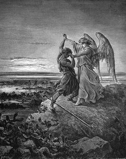 ヤコブ 天使と戦う