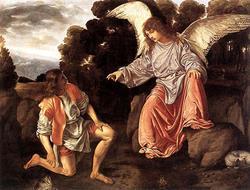 大天使ラファエル、トビアスの案内人となる。