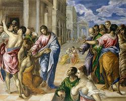 盲目を治すキリストの奇跡