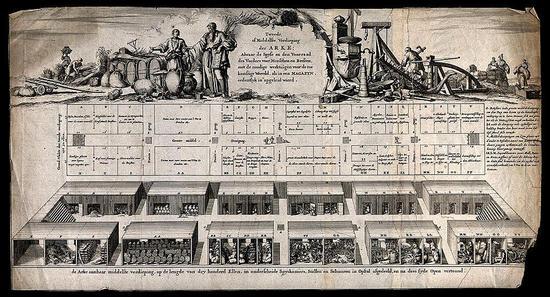 ノアの箱舟の精巧な横断面のサムネイル画像