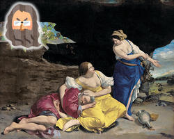 創世記18:ロトの娘たち、父親を誘惑する。