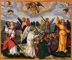 地の四方の風をおさえる4人の天使