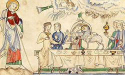 小羊の婚姻と一頭の白い馬に乗る騎士