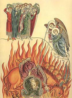 バビロンの大淫婦、焼かれる。バビロンの滅亡と嘆き