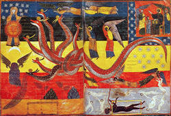 太陽をまとう女と七つ頭の龍〜ミカエルと竜の戦い