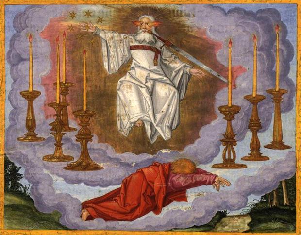 パトモス島の使徒ヨハネの見た幻(七つの金の燭台)