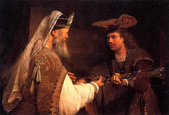 ダビデにゴリアテの剣を与えるアヒメレク