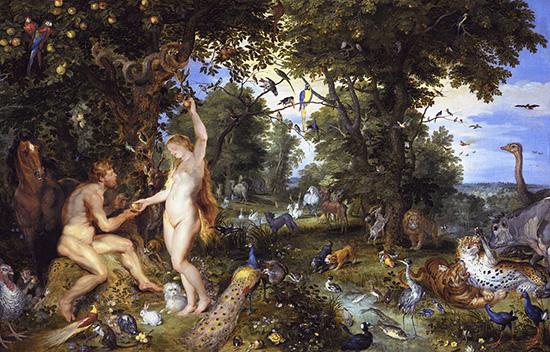 楽園のアダムとエバ