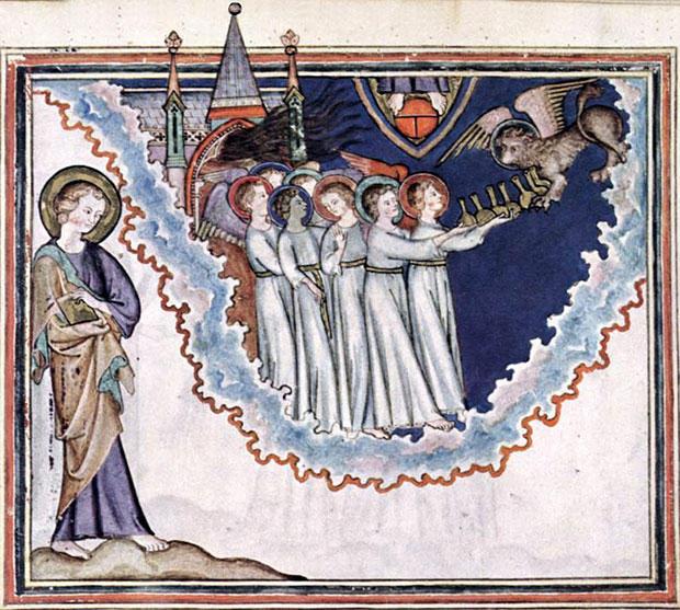 天使たちは7つの鉢を受け取る