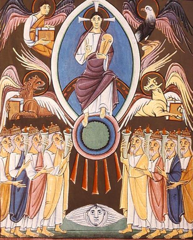 神の御座の前での礼拝(バンベルク黙示録)
