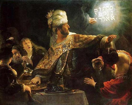 ベルシャザルの酒宴-壁の言葉