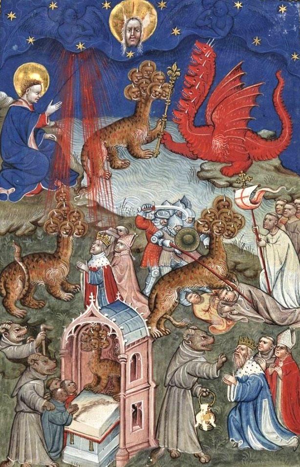 竜、海から出てきた獣、および、偽預言者