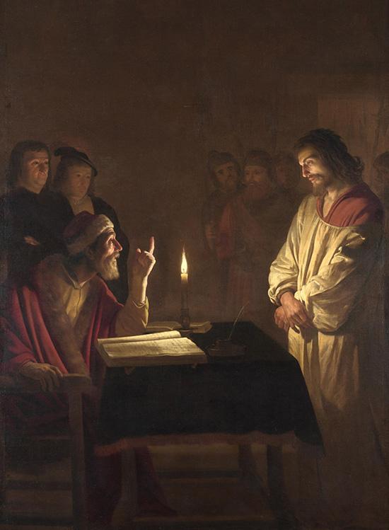 大祭司の前のキリスト