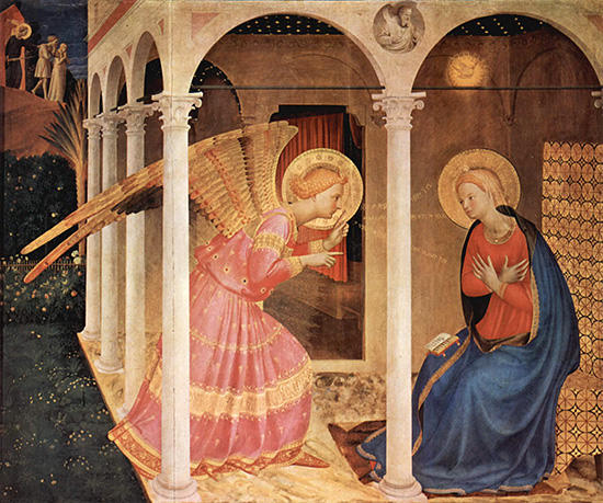 フラ・アンジェリコ〈受胎告知〉