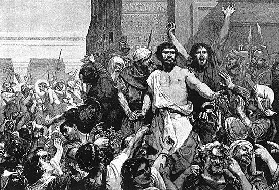 イエスの代わりに恩赦を受けたバラバ