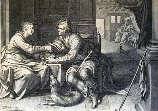 ヤコブはエサウにパンとスープを提供