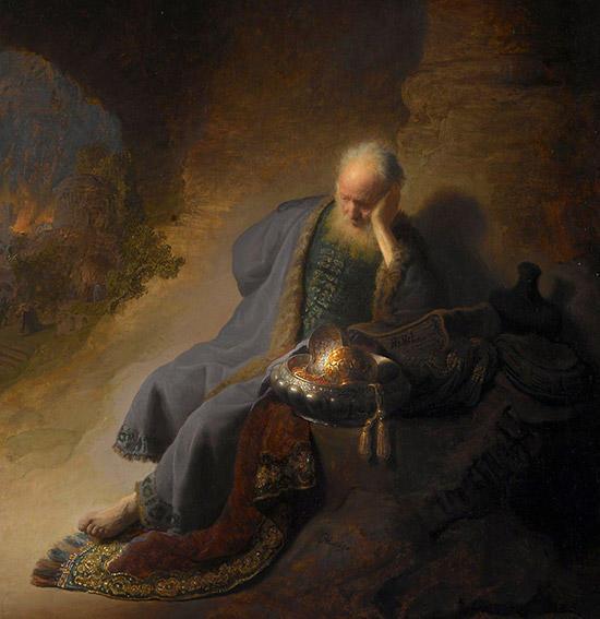滅亡を嘆く預言者エレミヤ
