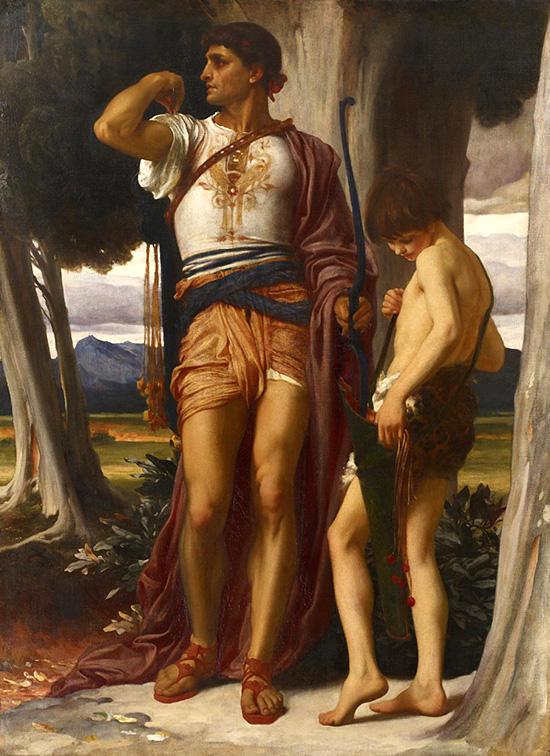 ダビデに合図を送るヨナタン