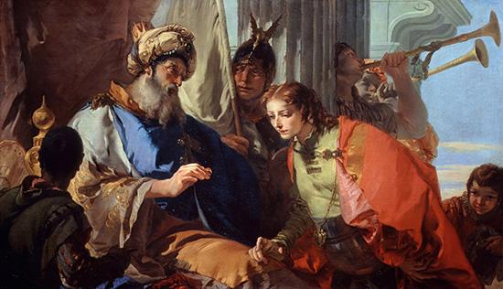ファラオの指輪を受け取るヨセフ