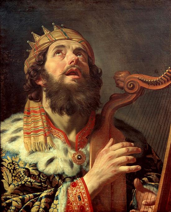 ハープを弾くダビデ王