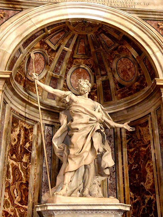サン・ピエトロ大聖堂の聖ロンギヌス