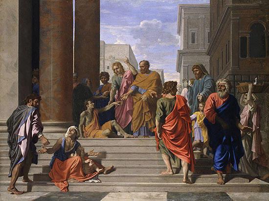 足の不自由な人を癒すペトロとヨハネ