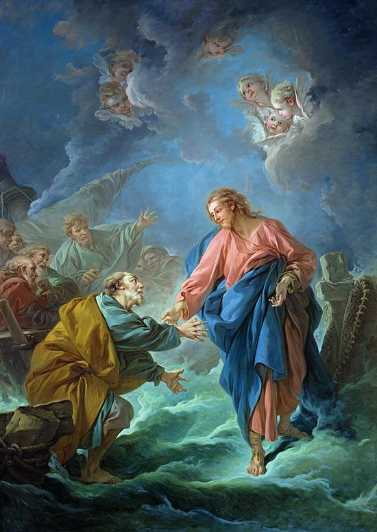 湖上を歩く聖ペテロ