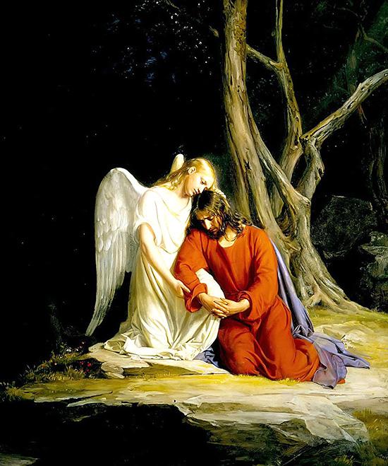 天使に慰められるイエス
