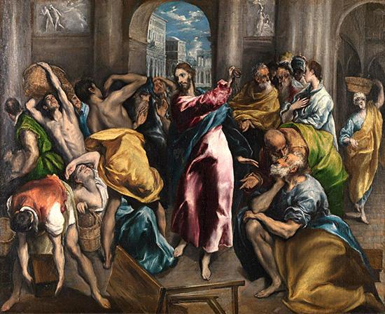 神殿から商人を追い払うキリスト