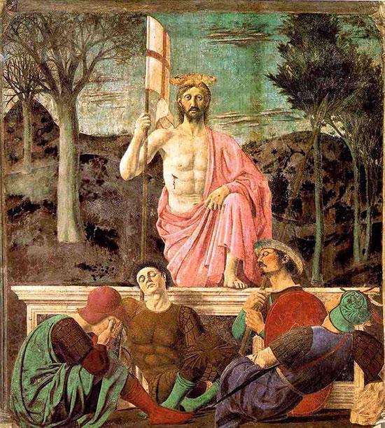 ピエロ・デッラ・フランチェスカ「キリストの復活」