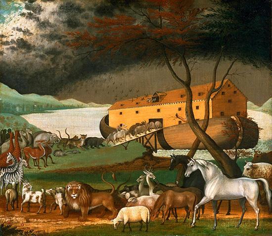 ノアの方舟に乗る動物たち