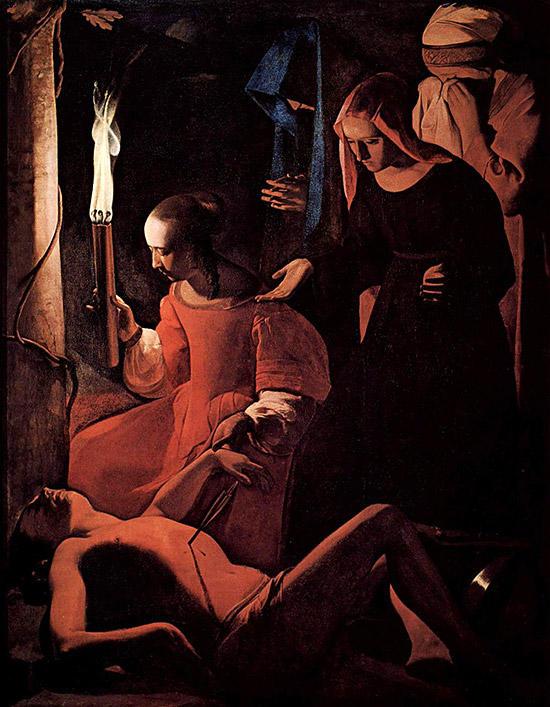 聖イレーヌに介抱される聖セバスティアヌス