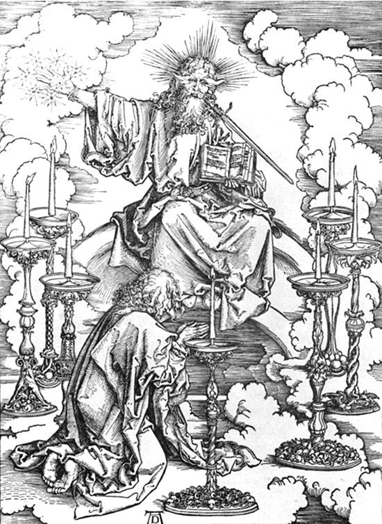 7つの燭台に永遠なる者を見るヨハネ