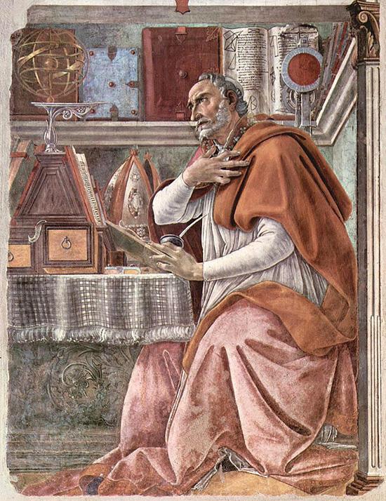 ボッティチェッリ 聖アウグスティヌス