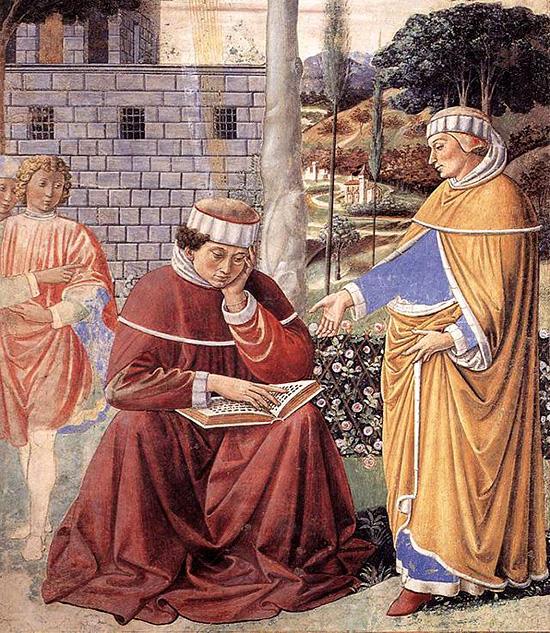 聖パウロ使徒書簡を読んでいる聖アウグスティヌス