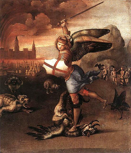 聖ミカエルとドラゴン