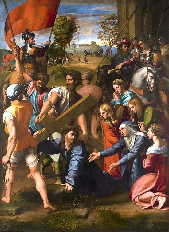 カルバリへの路上で転ぶキリスト