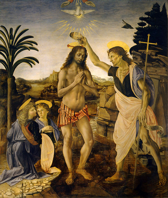 ヴェロッキオ:キリストの洗礼