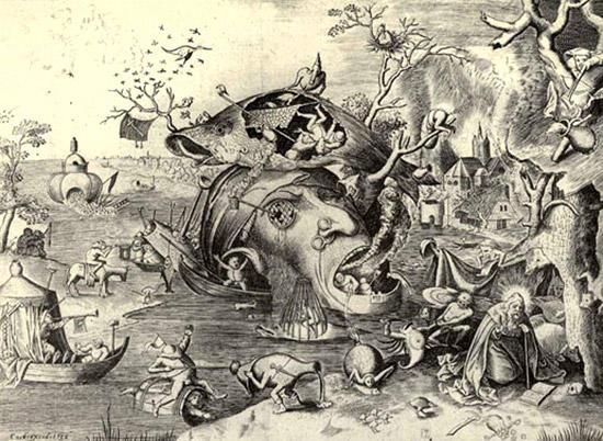 聖アントニウスの誘惑(ブリューゲルの版画)