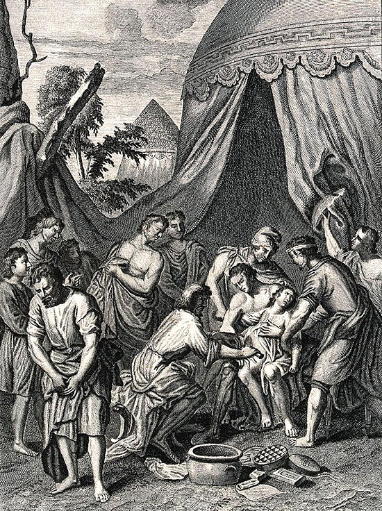 割礼を施すアブラハム