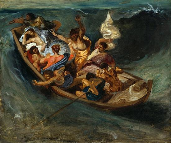 ガリラヤの海のキリスト:ドラクロワ
